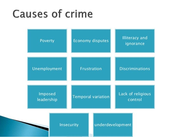 how illiteracy can cause crime Consequently, the popular causes of illiteracy are socially problems, family problem, and motional problems  poverty can cause illiteracy mainly due to lack of money andparents will not be.