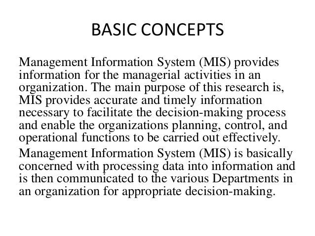 an introduction to management of information systems mis directors An education management information system (emis)  of performing or managing their information systems either manually or with computers the latter.