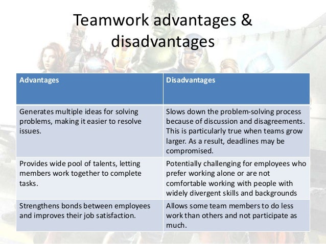 An analysis of working in teamwork