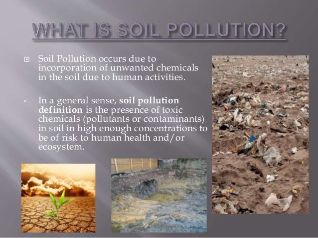 Pollution for Land and soil resources wikipedia