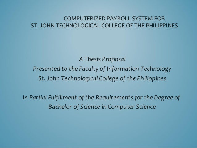 Thesis payroll