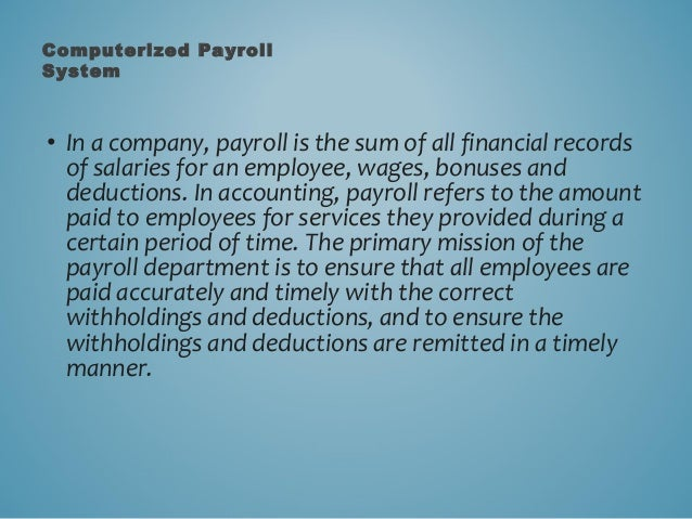 computerized payroll system thesis