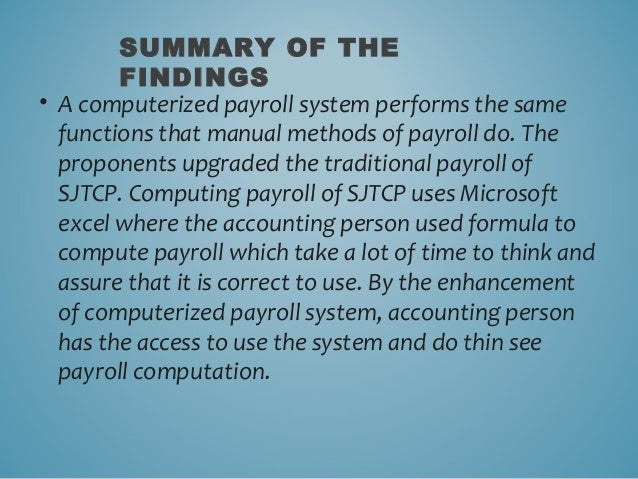the use of computerised accounting systems Abstract this paper is based on a research project which was designed to investigate small business usage of a computerised accounting system (cas) to ascertain if.