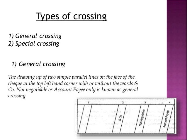types of crossing of cheques pdf