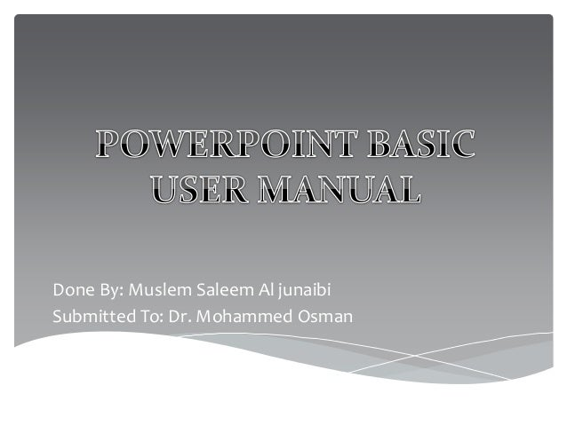 Done By: Muslem Saleem Al junaibi Submitted To: Dr. Mohammed Osman