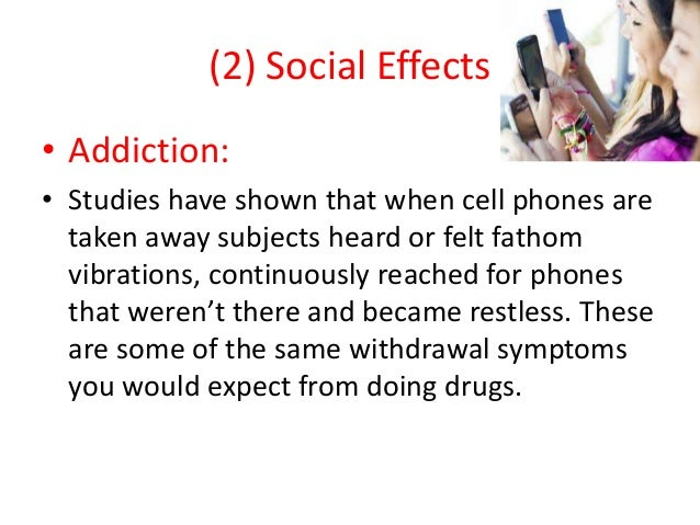social effects of cell phones
