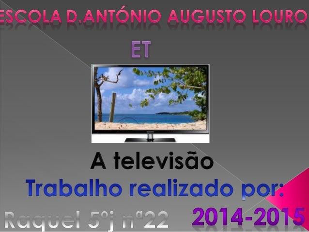  É um sistema eletrônico de reprodução de imagens e som de forma instantânea.  A televisão em sua forma original e até h...