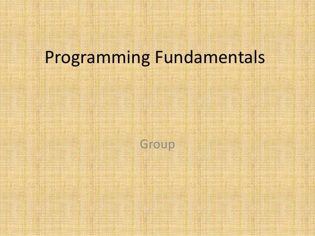 Programming Fundamentals Group