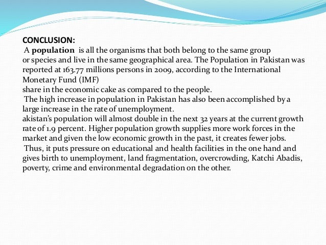 Population growth essay