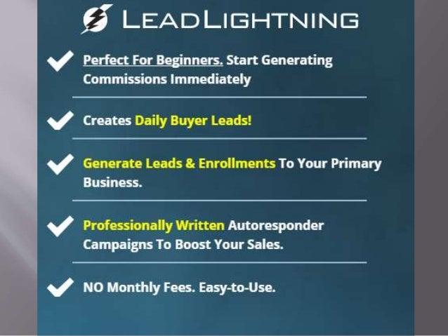 Lead Lightning Review FOR Making Money Online As Beginner.