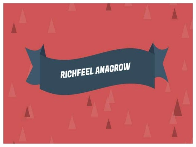 Analyse  Results  Yourself with ' Richfeel Anagrow