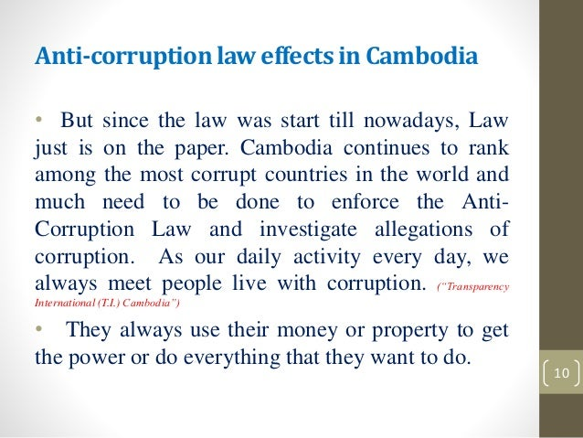 Corruption in law enforcement essay