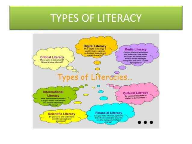 the different forms of literacy It's not new it's not different: the psycholinguistics of digital literacy alice s   the need for this kind of literacy has recently become the focus of various.
