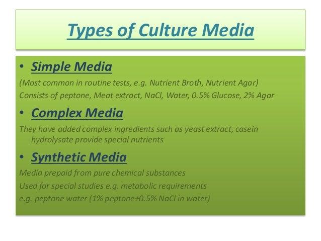 Culture Media and Culture Methods
