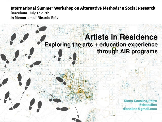 International Summer Workshop on Alternative Methods in Social Research Barcelona.  July 13—17th.  In Memoriam of Ricardo ...