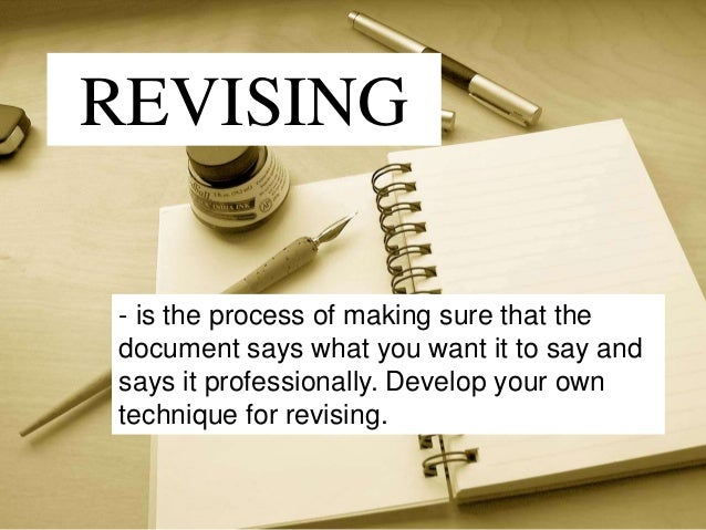 Guidelines for Revising a Composition