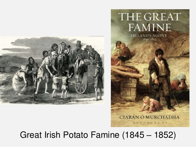 a look at the great starvation in ireland in 1845 1852 The great famine was a period of mass starvation, disease and emigration in ireland between 1845 and 1852 it is sometimes referred to, mostly outside ireland, as the irish potato famine.