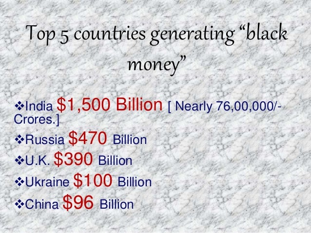 ways of generating black money