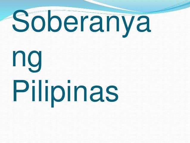 Soberanya ng Pilipinas Slide 2