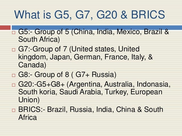 the g8 g20 roles and relationship And the g20: evolution, role and documentation, to be published by   ministers' g20 and its relation to the g7/g8, and formulates the.
