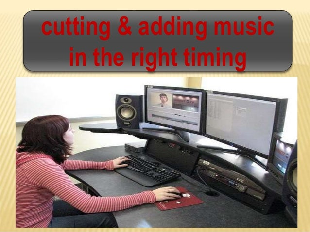 cutting & adding music in the right timing