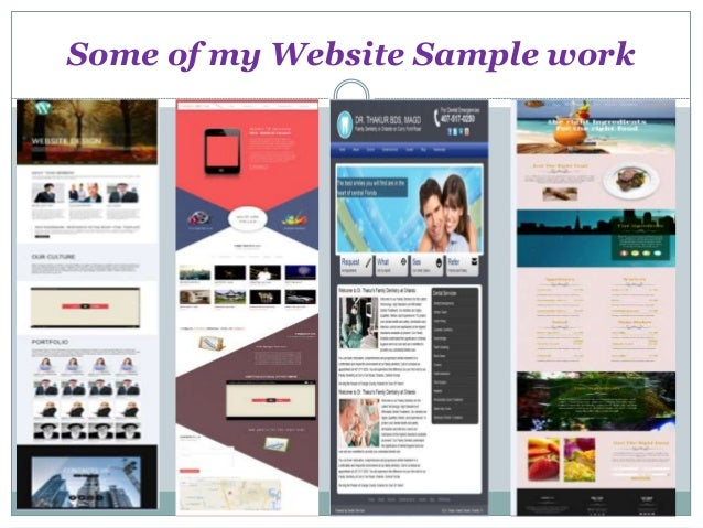 Some of my Website Sample work