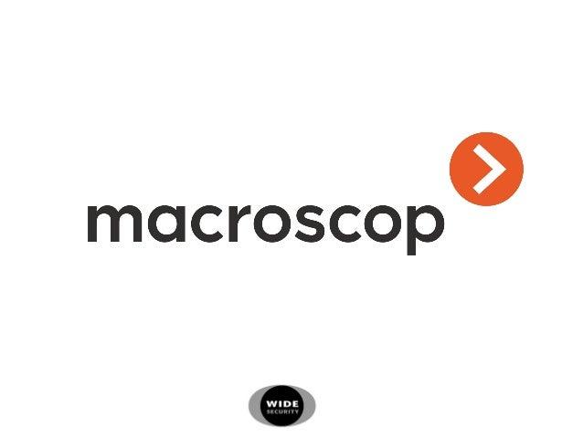 Macroscop patrí medzi profesionálne video dohľadové software, ktoré sú vyvinuté hlavne pre prácu s IP kamerami