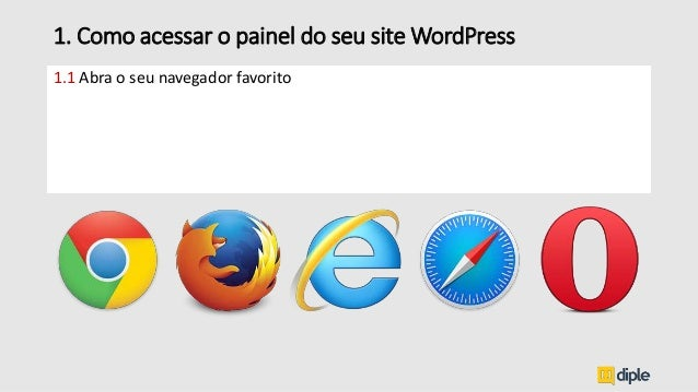 1.1 Abra o seu navegador favorito 1. Como acessar o painel do seu site WordPress