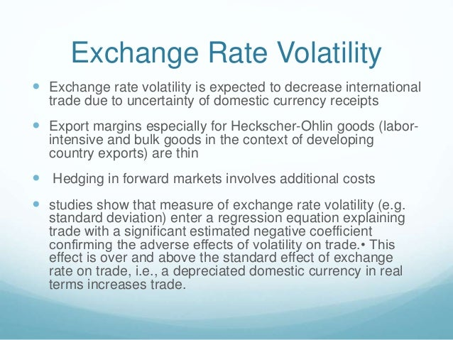 Factors Affecting The Exchange Rate Volatility In Asean Four