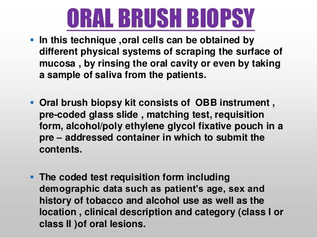 Oral Biopsy Techniques