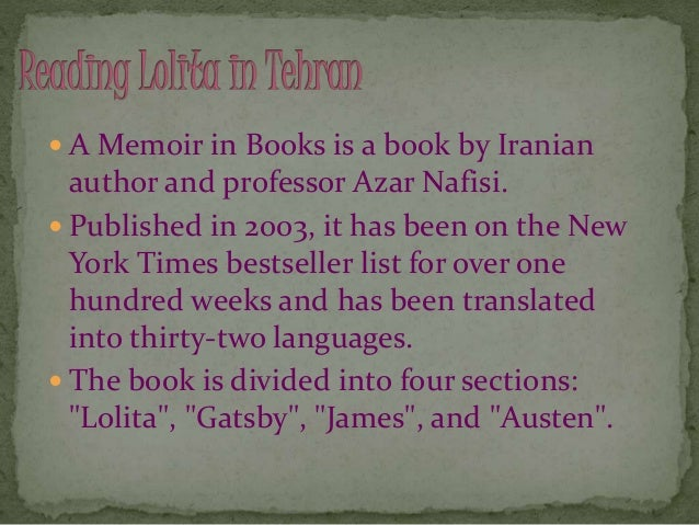 lolita in tehran Written by azar nafisi, narrated by azar nafisi download the app and start  listening to reading lolita in tehran today - free with a 30 day trial keep your.