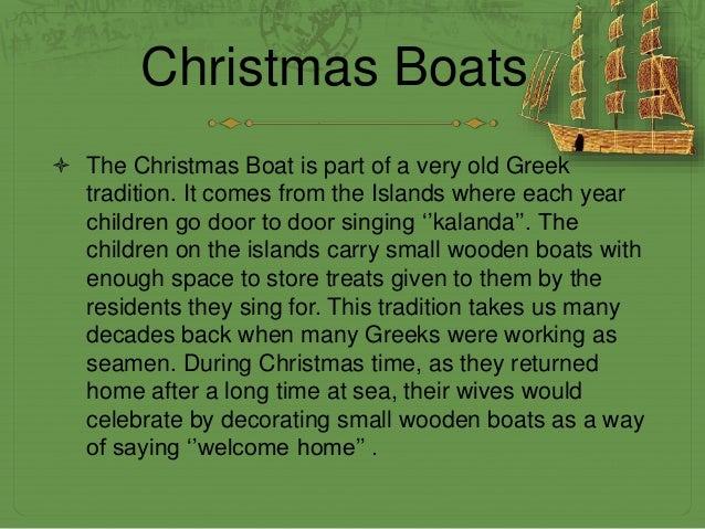 Christmas Boat Greece.Christmas In Greece