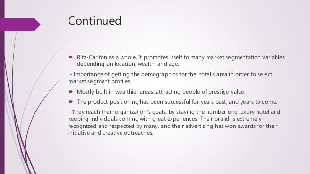 people in ritz carltons success marketing essay Free essay: there are several companies that rely strictly on service and  i  believe the heart of the ritz carlton's success is the fact that they.