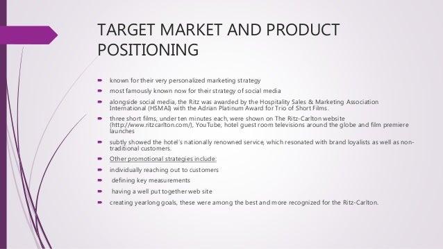 ritz carlton market segmentation