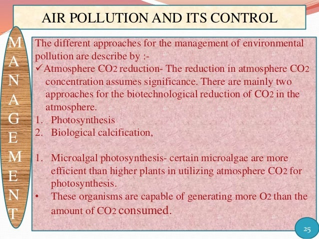 pollution and its control In contrast to most pollution control strategies, which seek to manage a pollutant  after it is formed and reduce its impact upon the environment, the pollution.