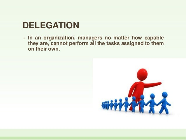 delegation of authority is the key of an organization The key difference to both techniques is that empowerment raises leaders, and  delegation raises  this will essentially give them a sense of value to the  organisation  empowerment entails a factor that delegation doesn't power/ authority.