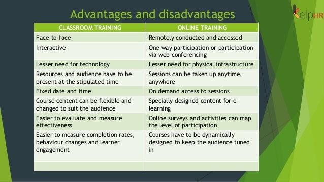 Horseshoe Classroom Design Advantages And Disadvantages ~ Training classroom vs online