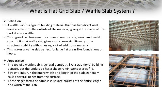 Flat grid waffle slab for What is the meaning of floor