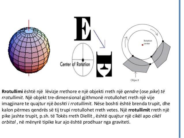 Rrotullimi është një lëvizje rrethore e një objekti rreth një qendre (ose pike) të rrotullimit. Një objekt tre-dimensional...