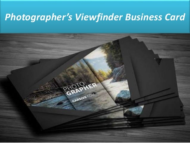 10 creative business cards to inspire you photographers viewfinder business card colourmoves