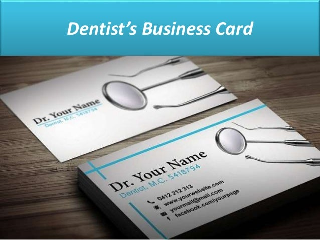 10 creative business cards to inspire you dentists business card reheart Images