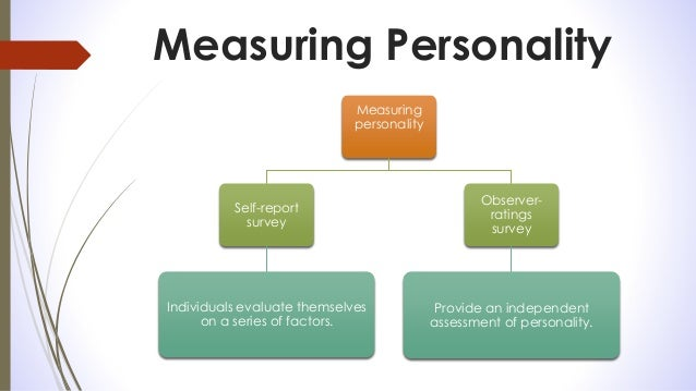 measuring personality constructs the advantages and disadvantages of self reports Self report measures i measuring self-report - provide self reports of behaviors, feelings (current emotional states), attitudes, and/or personality constructs 2 1.