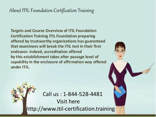 itil foundation training certification course
