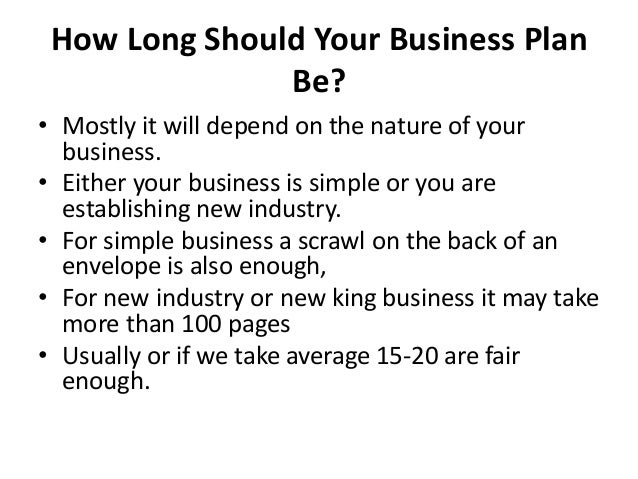 the recommended length of a business plan is quizlet