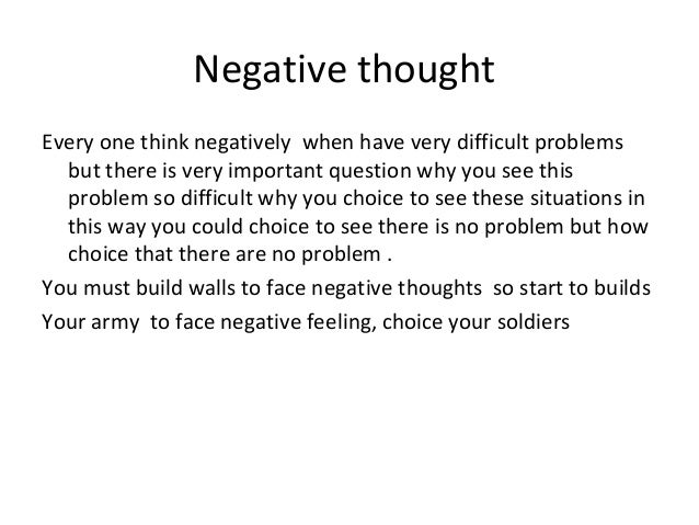 Stop Negative Thinking: Don't Believe These Thoughts