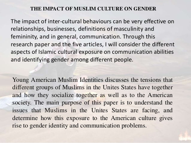 understand the impact of gender and