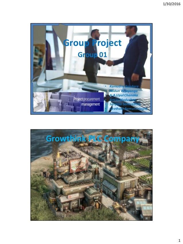 Project management case study ppt