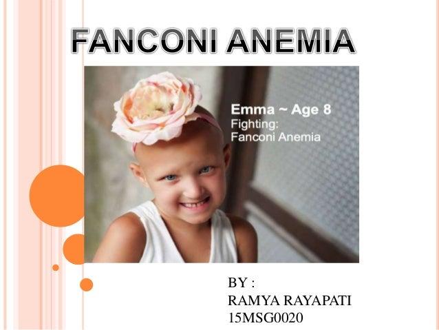 adult fanconi anemia