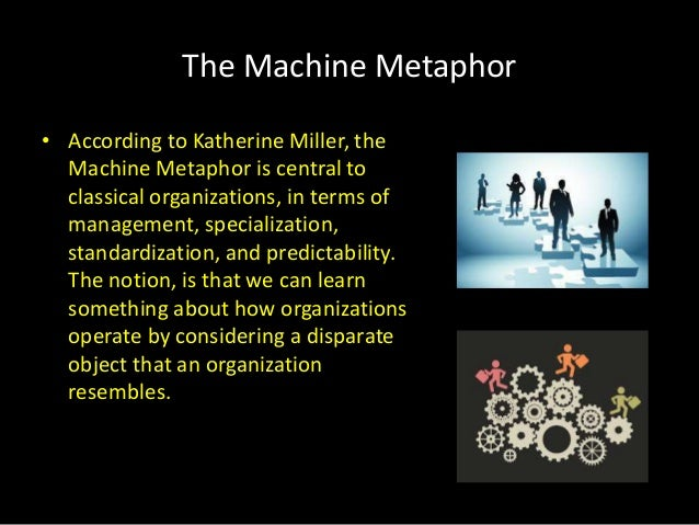 the machine metaphor Modernity's machine metaphor abstract discussions of 'modernity' have  been influenced by mechanical metaphors of the type to be found in weber's.