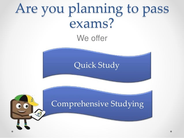 Are you planning to pass exams? We offer Quick Study Comprehensive Studying